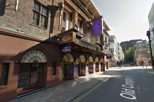 A Google StreetView Image showing the Prince Edward Theatre -  Click to Interact.