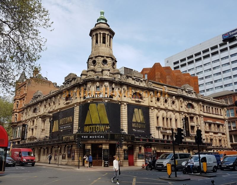 The Shaftesbury Theatre during the run of 'Motown' in May 2016 - Photo M. L.