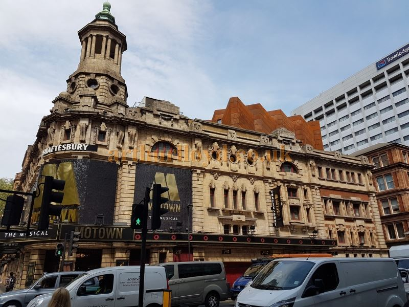 The Shaftesbury Theatre after work to extend the Fly Tower and strengthen its Grid had been completed in May 2016