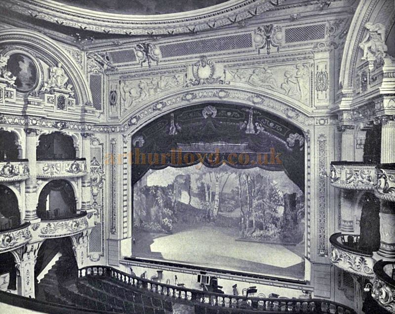 The Auditorium and Stage of the Princes Theatre, Shaftesbury Avenue, now the Shaftesbury Theatre - From the Academy Architecture and Architectural review 1912