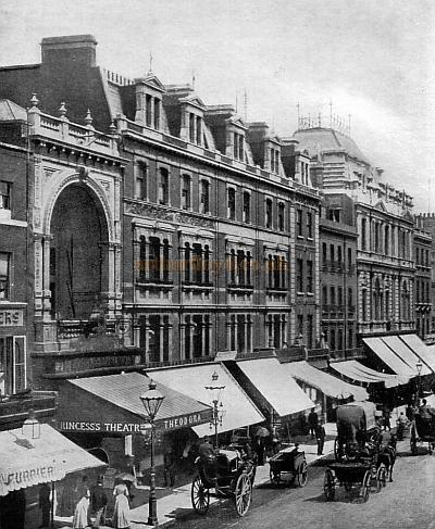 The Princess's Theatre, Oxford street at the turn of the century - From 'Ghosts and Greasepaint' W. Macqueen Pope.