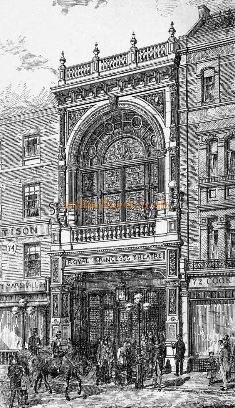 C. J. Phipps' 1880 rebuilt Princess's Theatre, Oxford Street - From the Building News and Engineering Journal of April 1st 1881.