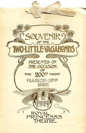 A Programme for 'Two Little Vagabonds' at the Princess's Theatre in 1897.