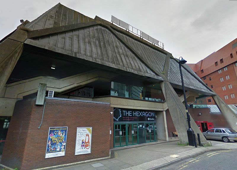 A Google StreetView Image of the Hexagon Theatre, Reading - Click to Interact