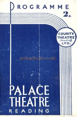 A programme for a 'Bandstand' production, by arrangement with the BBC, at the Palace Theatre, Reading for the week commencing September the 20th 1943.