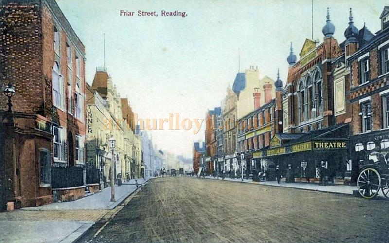 An early 1900s postcard showing the Royal County Theatre, Reading
