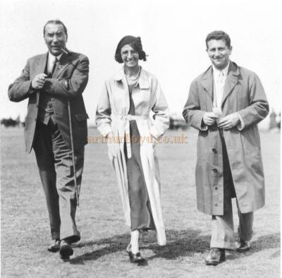 A photograph of Bertie Crewe with his partner Henry Kay, and his wife - Courtesy Paul Hughes.