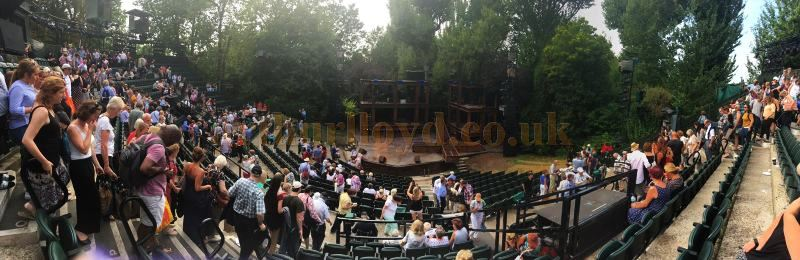 The Regent's Park Theatre during the run of 'Jesus Christ Super Star' in August 2016 - Courtesy Jemma Newton.