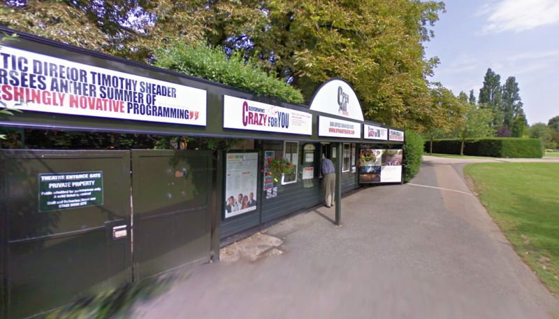 A Google StreetView Image of the Entrance to the Regents Park Open Air Theatre - Click to Interact.