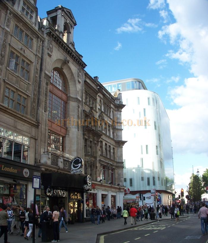 The former Rialto Cinema, Coventry Street, now a Casino, in a photograph taken in May 2011 - Photo M.L.
