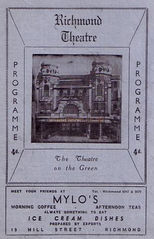 A programme for 'When we are Married' at the Richmond Theatre in April 1946.