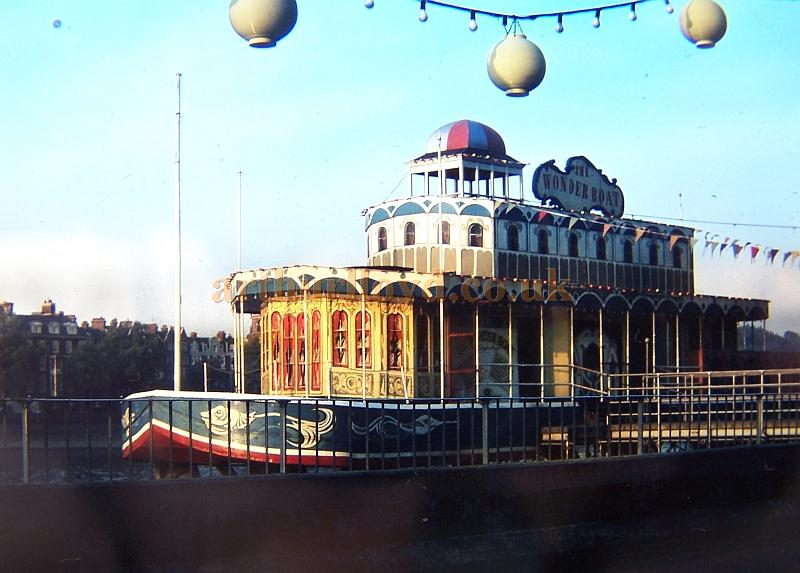The Wonder Boat moored outside Battersea Park in the early 1960s