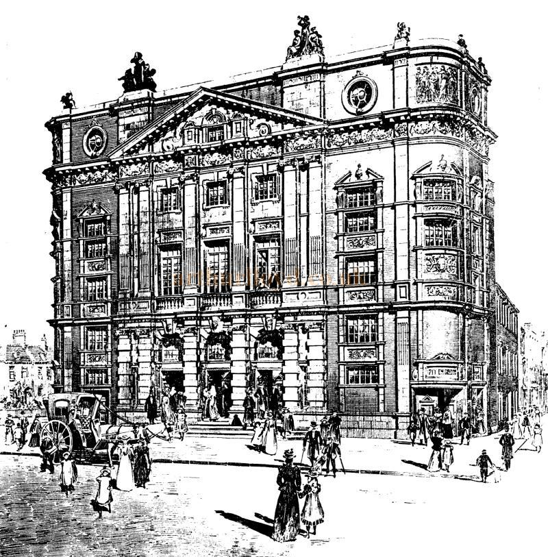 A Sketch of the Terriss Theatre, Rotherhithe. (The Theatre would later become known as the Rotherhithe Hippodrome in 1907) - From the ERA, 14th of October 1899 - To see more of these Sketches click here.