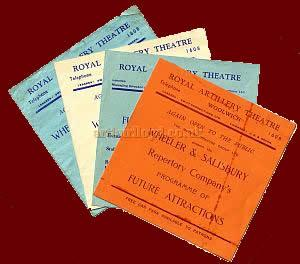 Royal Artillery Theatre Leaflets advertising forthcoming productions - Courtesy Michelle Bowen. - Click to see them in detail.