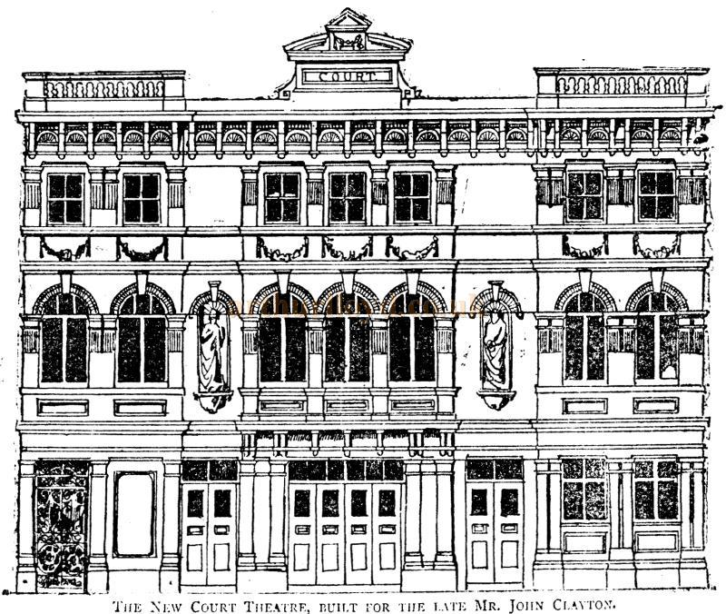 A Sketch of the New Court Theatre, Sloane Square - From the Pall Mall Gazette 28 Feb 1888.