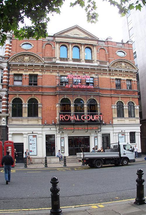 The Royal Court Theatre, London, during the run of 'Jerusalem' in August 2009 - Photo M.L.