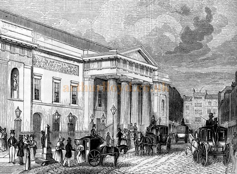The Second Covent Garden Theatre - From the book 'London' Edited by Charles Knight and Published in 1843