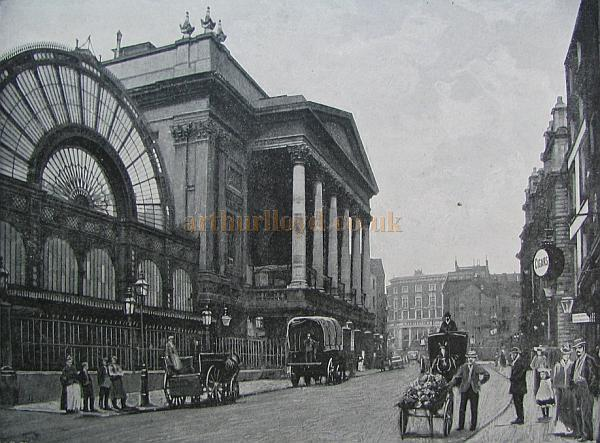 The third Theatre Royal, Covent Garden, Circa 1897, (now the Royal Opera House) - Courtesy Peter Williams  - Click to Enlarge