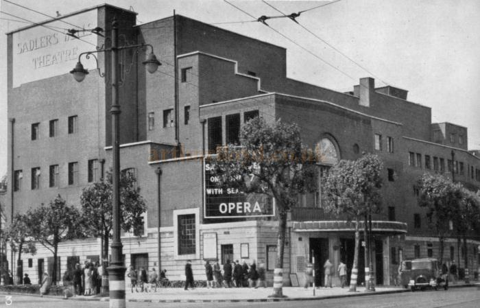 The Sadler's Wells Theatre on its reopening after the war on the 7th of June 1945 - From the book 'A Theatre for Everybody, the story of the Old Vic & Sadler's Wells' by Edward J. Dent, 1945.