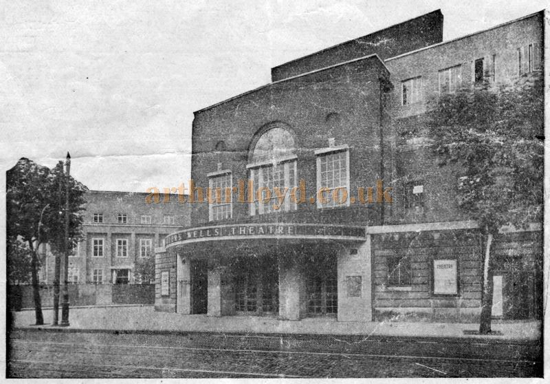 The Sadler's Wells Theatre - From a Programme for a Ballet Season at the Theatre in April 1939 - Kindly Donated by Siobhan Craven-Robins.