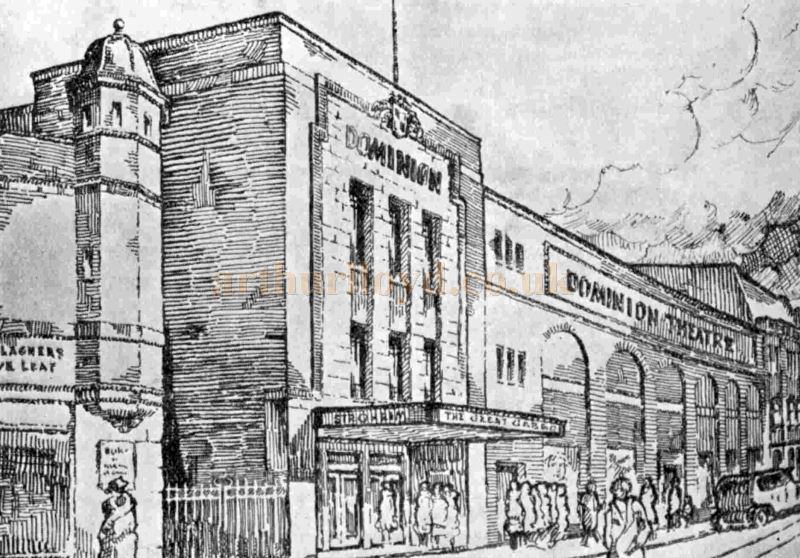 A Sketch of the proposed Dominion Theatre, Salford - From The Bioscope, 19th March 1930.