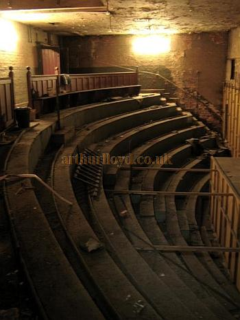 The closed off balcony of the Victoria Theatre, Salford in July 2012 - Courtesy K.R.