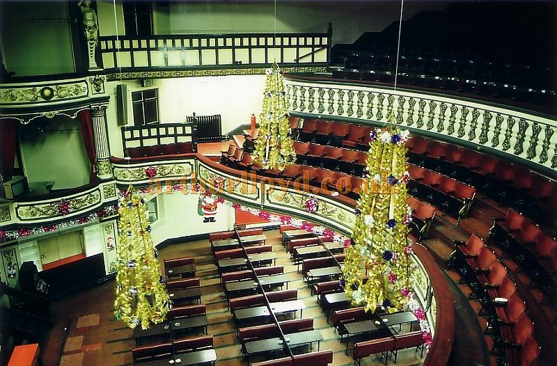 The auditorium of the Victoria Theatre, Salford in January 1989 - Courtesy Ted Bottle