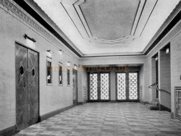 The Foyer of the Saville Theatre on its opening in 1931 - From a programme for the opening production of 'For the Love of Mike' at the Saville Theatre in October 1931.