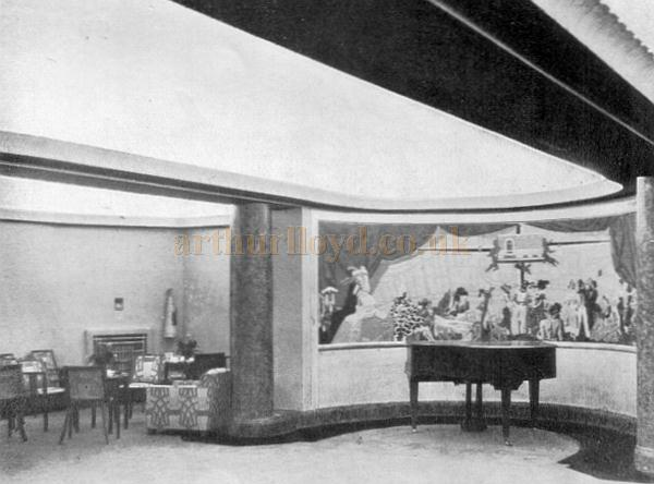 Another view of the Saloon at the Saville Theatre on its opening in 1931 - From a programme for the opening production of 'For the Love of Mike' at the Saville Theatre in October 1931.