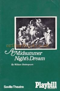 A Midsummer Night's Dream Programme