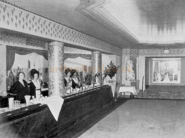 The Stalls Bar in the Saville Theatre on its opening in 1931 - From a programme for the opening production of 'For the Love of Mike' at the Saville Theatre in October 1931.
