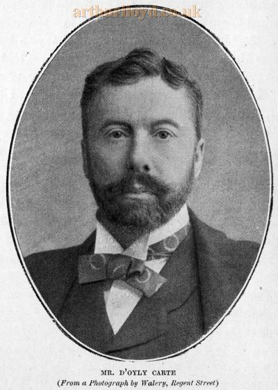 Richard D'Oyly Carte from a photograph by Walery, Regent Street - From 'The Savoy Opera' by Percy Fitzgerald, 1894.