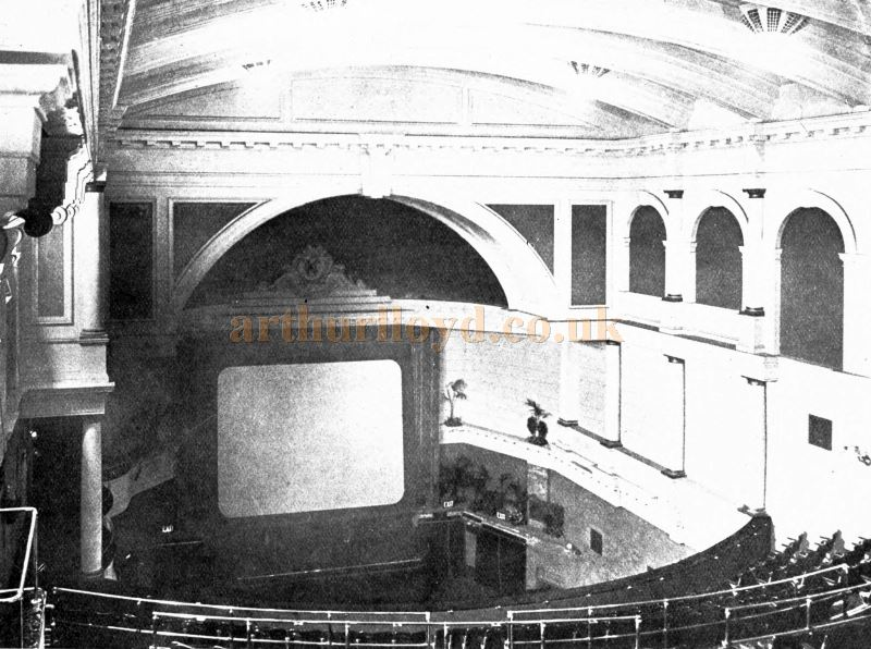 The Auditorium and Stage of the King's Cross Cinema - From the Academy Architecture and Architectural review of 1921.