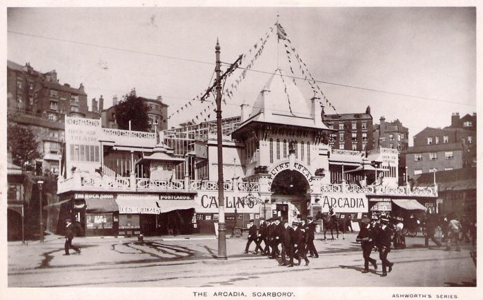 A Postcard depicting Catlin's Arcadia, Scarborough - Courtesy Adrian Spawforth from his wonderful site 'Postcards of Scarborough.' The New Arcadia Theatre, later the Futurist Theatre, was opened on its site in 1921.