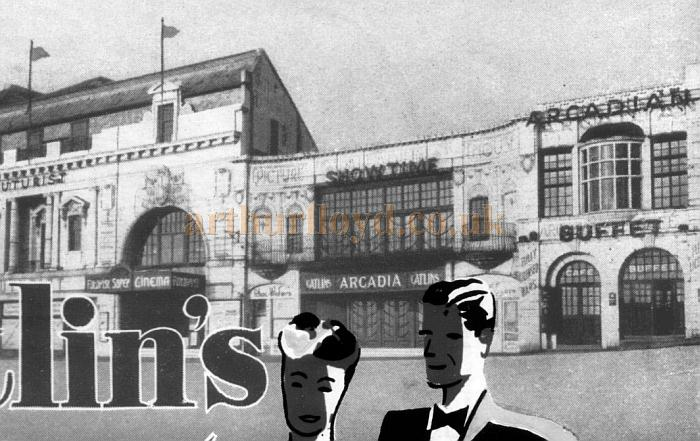 The Arcadia Theatre, formerly the Palladium Picture House, from a programme for 'Catlin's Showtime' at the Arcadia Theatre in 1952 - Courtesy Maria Andrew, Norwich Theatre Royal