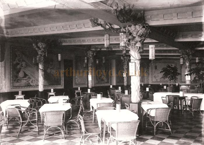 The Cafe in the Floral Hall, Scarborough - Courtesy Adrian Tonner whose grandfather, Moses Halladjian,  took the photograph and was a freelance photographer in Scarborough from 1925 to 1937