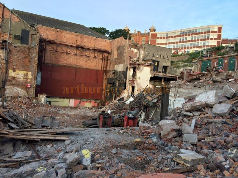 The Futurist Theatre, Scarborough being demolished in June 2018 - Photo Dave Barry, courtesy Jason Mullen.