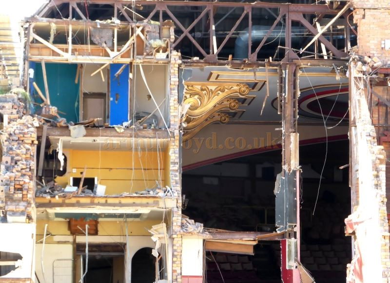 The Futurist Theatre, Scarborough being demolished in July 2018 - Courtesy Alfred Mason.