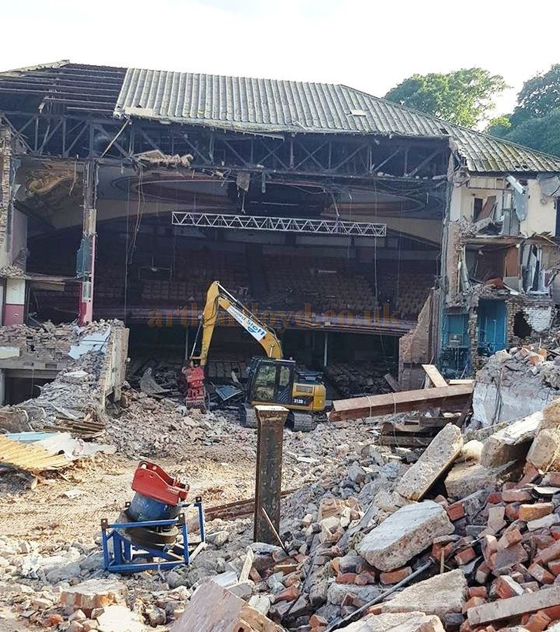 The Futurist Theatre, Scarborough being demolished in July 2018 - With kind permission of the Save the Futurist Theatre Facebook Group.