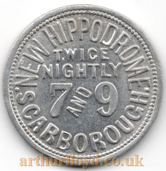 An Entrance Token for the New Hippodrome, Scarborough - Courtesy Alan Judd