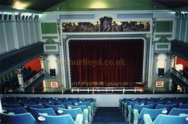 Photograph of the Auditorium and Stage of the Spa Theatre, Scarborough in 1990 - Courtesy Ted Bottle