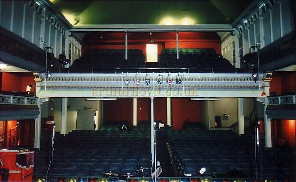Photograph of the Auditorium from the Stage of the Spa Theatre, Scarborough in 1990 - Courtesy Ted Bottle