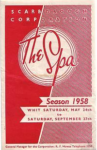 Programme for the 1958 season at The Spa, Scarborough.