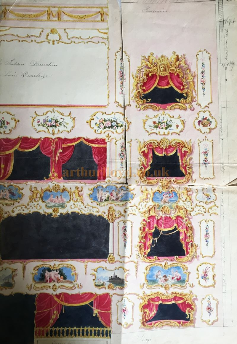 William Beaumont's Designs for the Redecoration of the City of London Theatre in 1848 - Courtesy Claire Pascall.