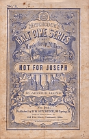 Arthur Lloyd's 'Not For Joseph, a song sheet from the New York based 'Hitchcock's Half Dime' Series