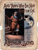 Arthur Lloyd's 1891 song 'And That's Why I've Not Got 'Em On' - Click to Enlarge