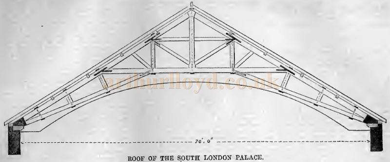 The Roof of the South London Palace - From the Building News and Engineering Journal, 13th of May 1870.