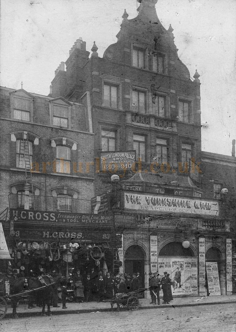 A photograph of the South London Palace during the run of 'The Yorkshire Lad' in the early 1900s - Courtesy Philip Cross