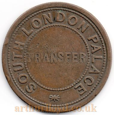 An early Entrance Token for the South London Palace - Courtesy Alan Judd