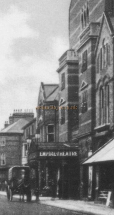 The Empire Theatre, Southend with its original frontage, from a 1908 postcard.